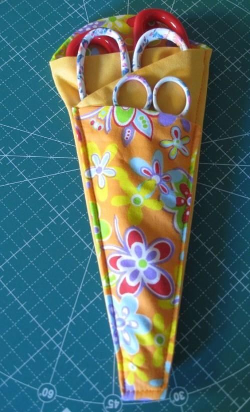 Folded Fabric Scissors Holder