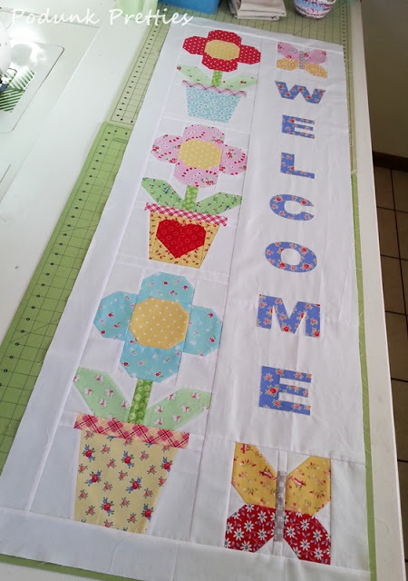 Hello Spring Quilted Banner