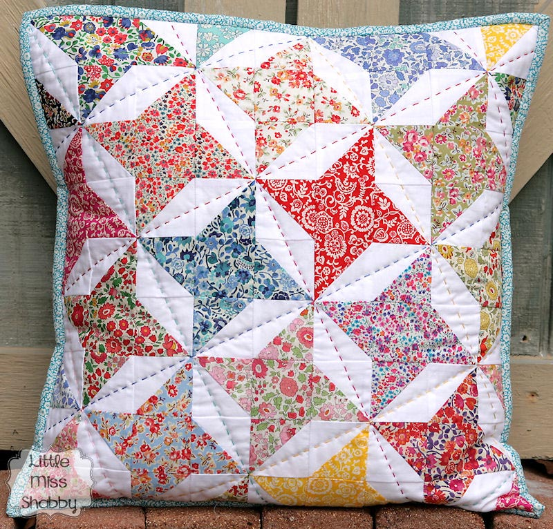 Make A Charming Big Stitch Hand Quilted Pillow Quilting