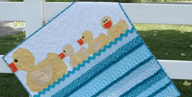 Lucky Ducks Baby Quilt