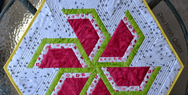 Sweet Watermelon Hexagonal Table Topper