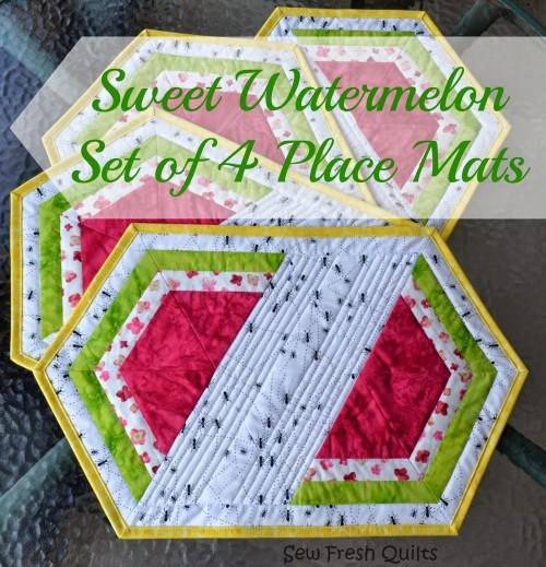 Sweet Watermelon Place Mats