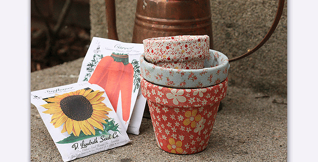 DIY Fabric Covered Pots