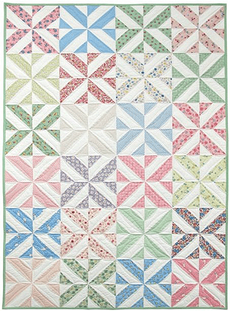 Free Quilting Patterns For Spring : Easily Adjust The Size of This Charming Quilt - Quilting Digest
