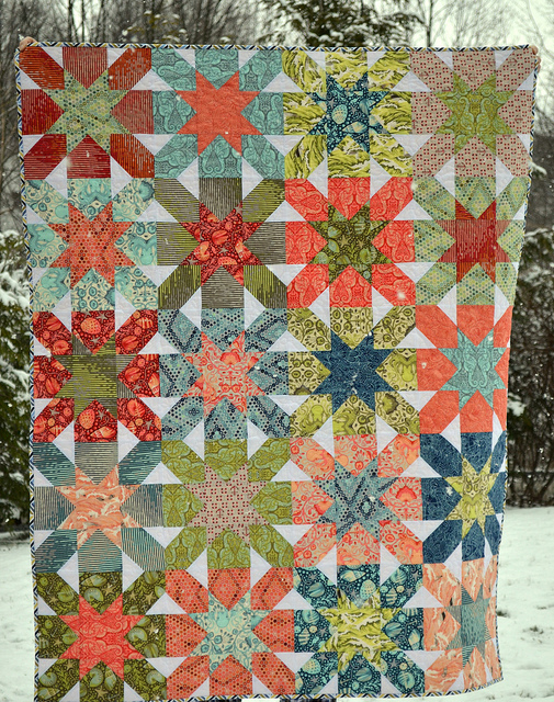 Starburst Cross Quilt Pattern