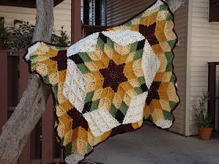 Desert Star Crocheted Throw