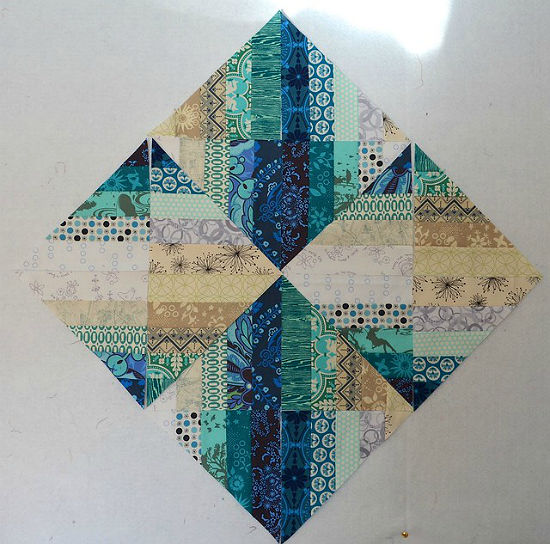 Blended Scraps Block Tutorial