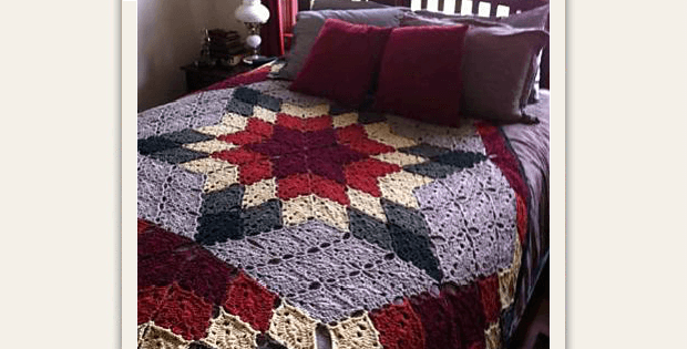 A Lone Star Quilt To Crochet Quilting Digest