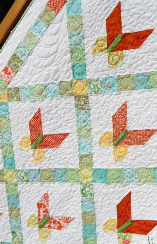 Jelly Roll Butterfly Quilt and Runner
