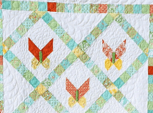 Jelly Roll Butterfly Quilt