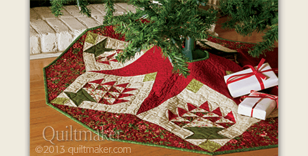 Merry Baskets Tree Skirt
