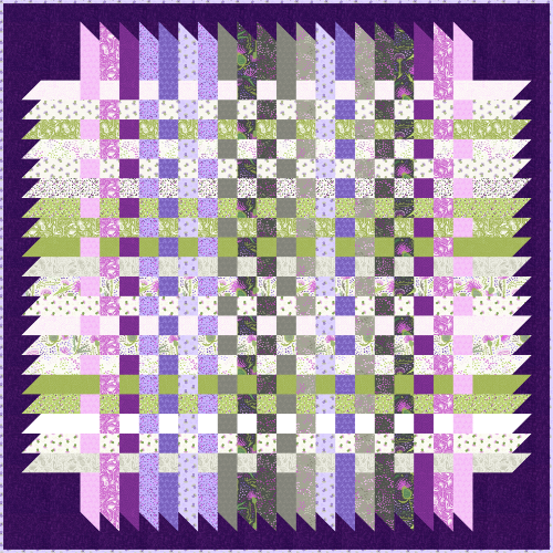 Over and Down Under Quilt Pattern