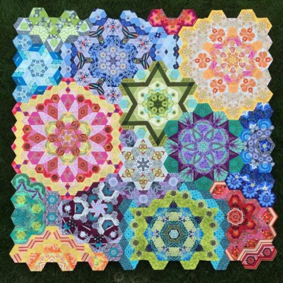 The New Hexagon – Millefiore Quilt
