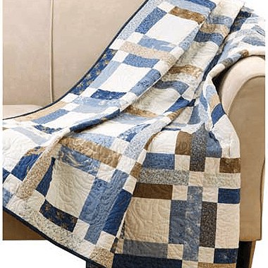 Grandma Mary's Five-Patch Quilt