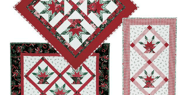 Poinsettia Basket Quilts