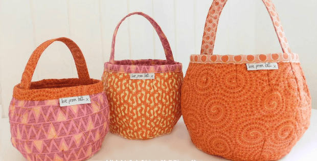 Fun Pumpkin Bags for Treats and More - Quilting Digest : quilted bags - Adamdwight.com