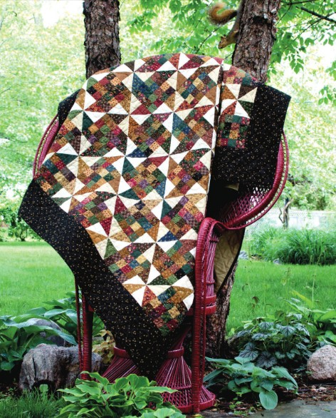 Scrap Patch Paddlewheel Quilt