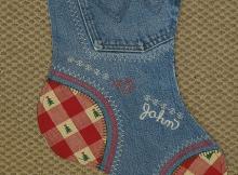 Denim Christmas Stockings