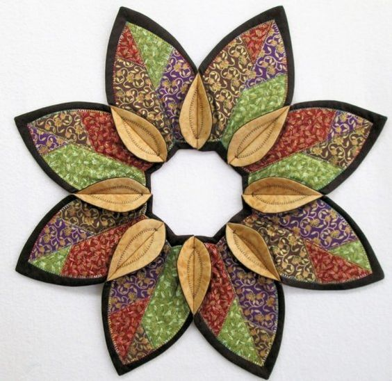 ideas for attic access - Fold N Stitch Leaf Topper for Your Table Quilting Digest