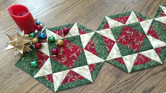 Christmas Version of Patriot Stars Table Runner