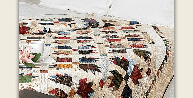 Scrappy Bear Paw Quilt