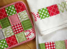 Patchwork Towels and Pot Holders Set