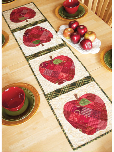 Patchwork Apple Table Runner