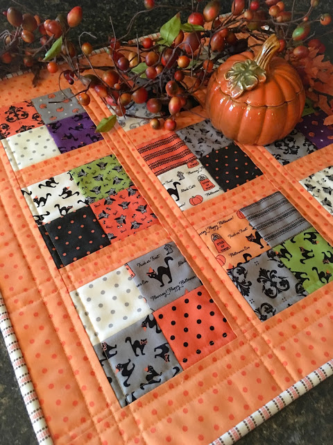 Coffee Time Quilt for Halloween