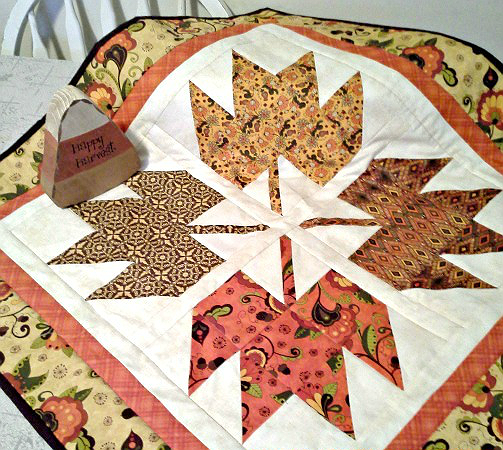 Falling Leaves Table Topper