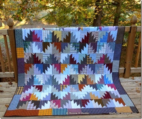 This Scrappy Quilt Was Made From Plaid Shirts Quilting