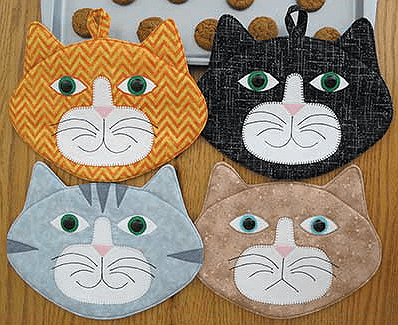 Allie Cats Hot Pads Pattern