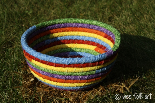 Pixie's Rainbow Coiled Rag Bowl
