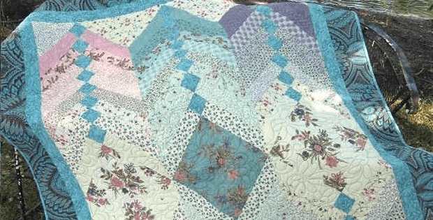 Showcase Beautiful Fabrics in This French Braid Quilt - Quilting ... : french braid quilts - Adamdwight.com