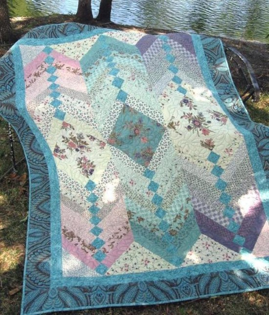 Jelly Roll French Braid Quilt