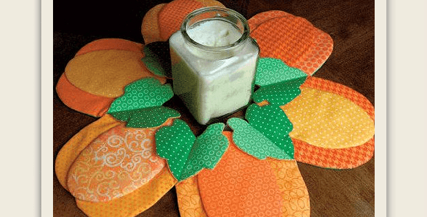 Fabric Pumpkin Centerpiece