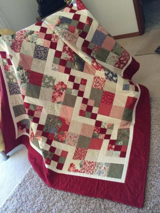 Quilting Digest Free Patterns : This Simple Quilt is Simply Delightful - Quilting Digest