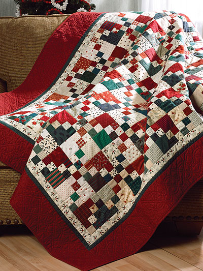 Scrappy Christmas Quilt