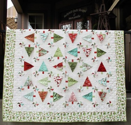 3d Christmas Tree Pattern: 3D Pinwheels And Trees Make An Extra Fun Quilt
