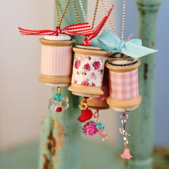 Wooden Spool Necklaces