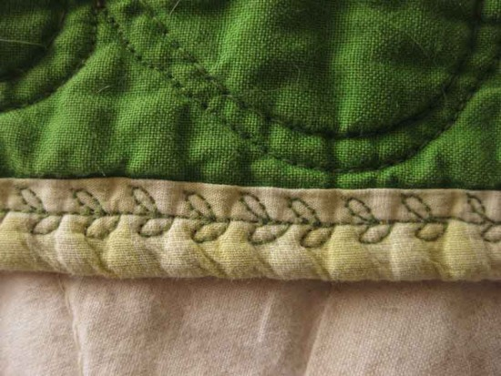 Binding with a Decorative Stitch