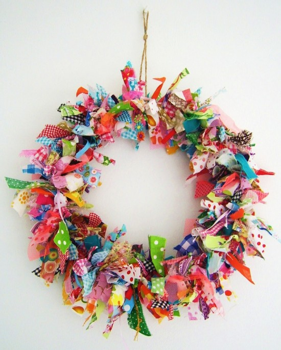 No-Sew Fabric Wreath