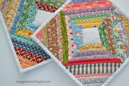 String Quilted Pot Holders