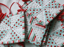 Easy Quilted Ornaments