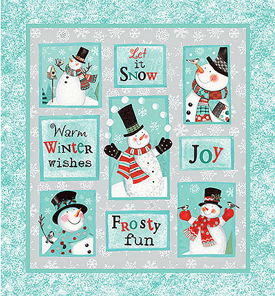 Frosty Fun Fabric Panel