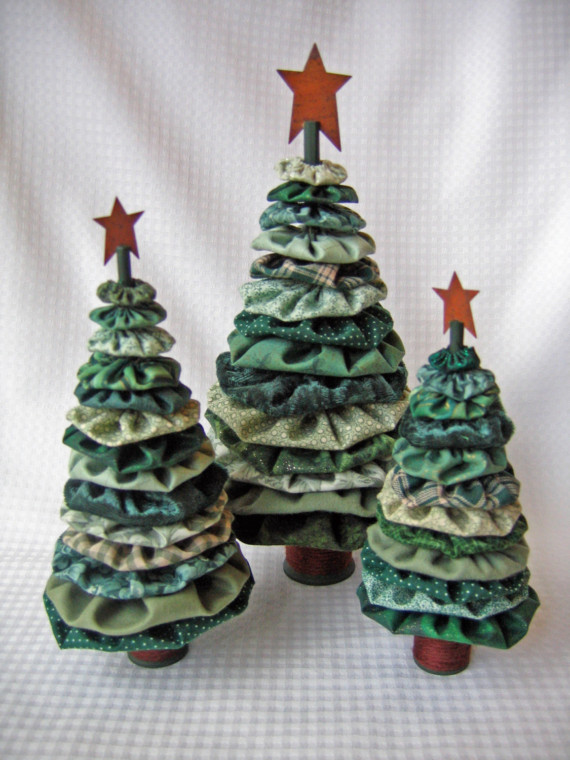 Yo Yo Christmas Trees Are Easy And So Much Fun Quilting