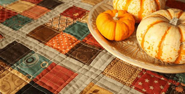 Nine Patch Autumn Topper