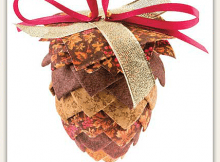 Pinecone No-Sew Ornament Pattern