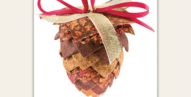 Pinecone No-Sew Ornament Pattern