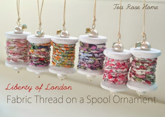 Fabric Thread on a Spool Ornament