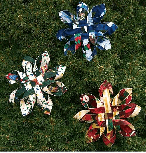 Fabric Woven Star Ornaments